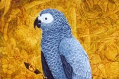 Gris du Gabon - Huile sur bois 3F - vendu