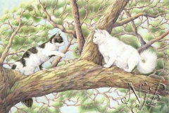 Dans l'arbre Crayons de couleur - 35 x 25 cm - vendu