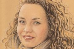 Portrait de Chloé - Dessin 25 x 35 cm