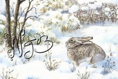 Cordes sous la neige - Dessin 30 x 20 cm