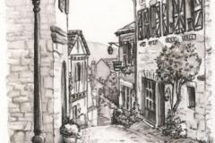 Rue de la Barbacane - dessin 20 x 30cm