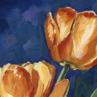Tulipes Acrylique sur médium 12 x 12 cm