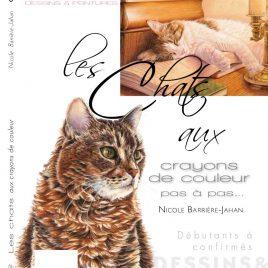 Livre Les chats aux crayons de couleur