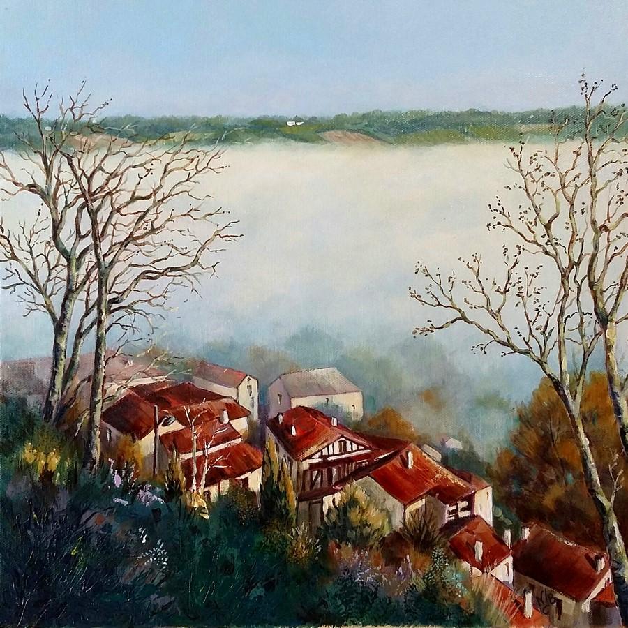 Cordes sur ciel peinture acrylique peintures et dessins - Peindre sur peinture acrylique ...