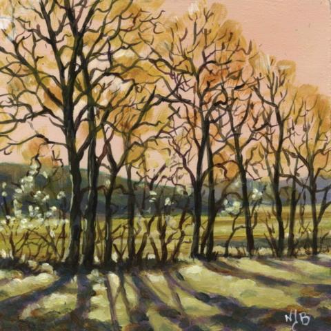Spring, acrylic painting