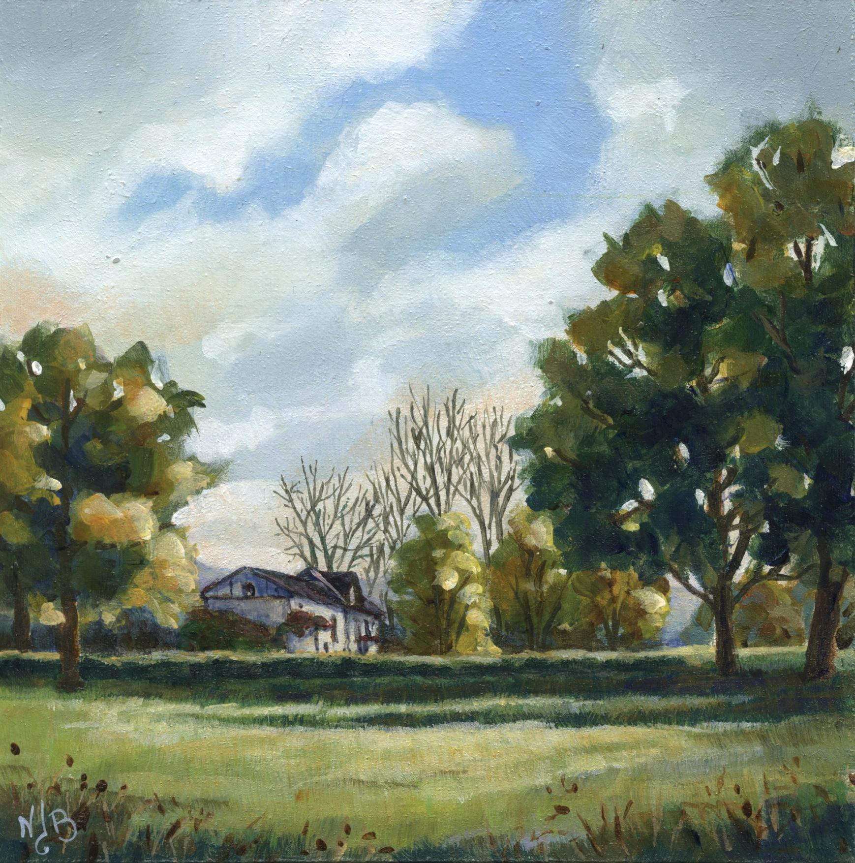 Oil painting, landscape painting