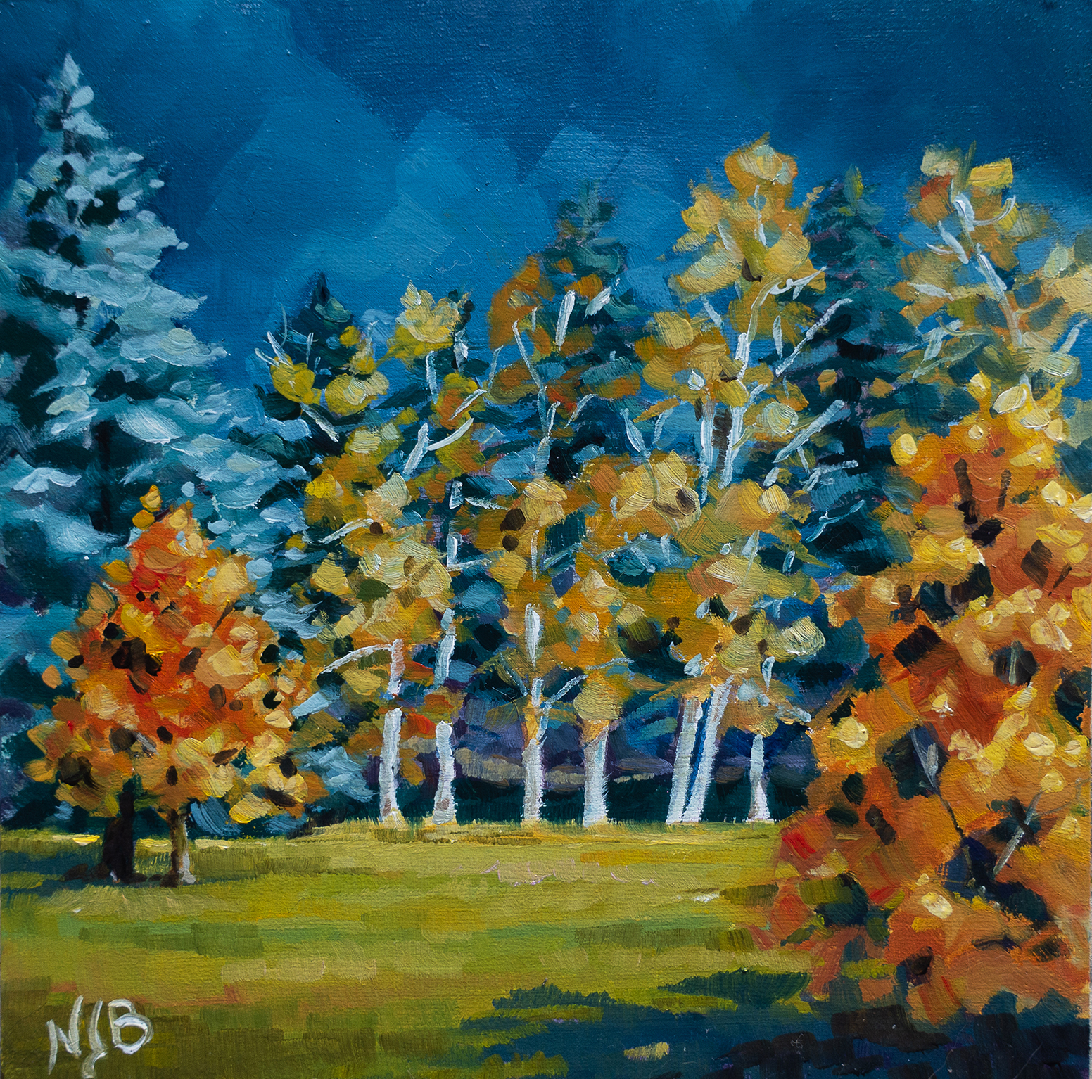 Storm sky, acrylic painting
