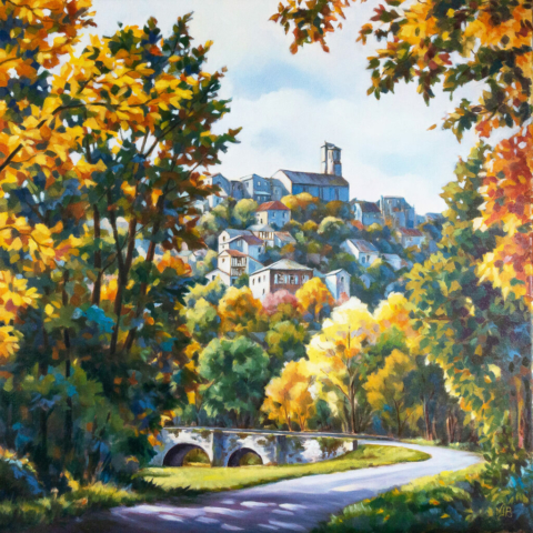 Cordes sur Ciel , oil painting