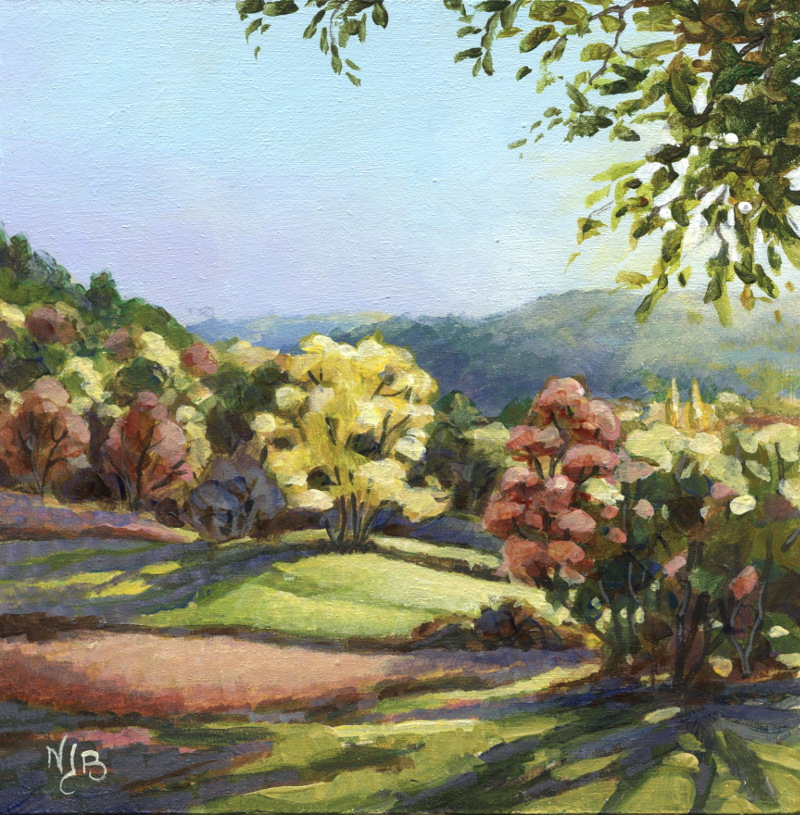 Puycelsi , acrylic painting